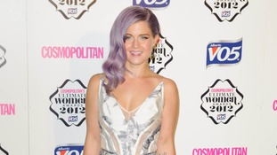Music star Kelly Osbourne arrives at the awards bash.