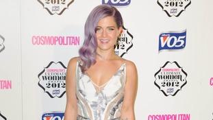 Music star Kelly Osbourne arrives at the awards bash.