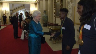 Olympic and Paralympic stars meet the Queen