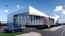 An artist's impression of the new aerospace hub in Yeovil