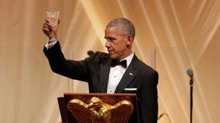 Barack Obama has final state dinner as president