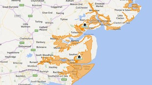 Flood alerts have been issued for the Essex coast.