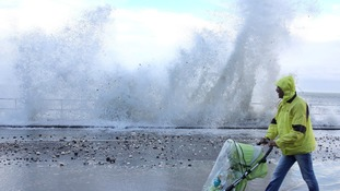 A combination of high tides and a tidal surge could cause waves to crash against sea defences and some flooding on the East coast.