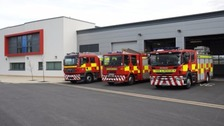 Durham and Darlington Fire and Rescue engines outside fire station