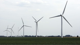 Wind farm at Deeping St Nicholas, near Spalding, Lincolnshire
