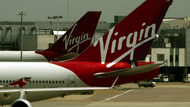 Virgin Atlantic planes at London's Heathrow Airport