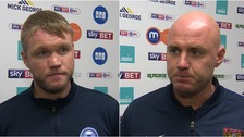 Grant McCann and Rob Page were both left with differing emotions after the game.