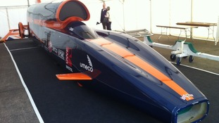 The Bloodhound car will attempt to break the landspeed record next year