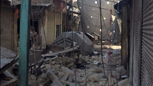 Now reduced to rubble, a bakery stood here yesterday