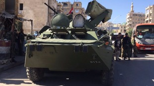 The Syrian army has assured people they will be able to cross safely
