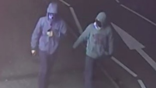 Officers are looking to identify the two men pictured in connection with the incidents.