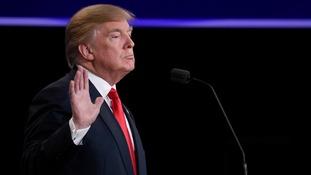 Donald Trump during the debate in Las Vegas.