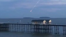 What was the 'meteor' seen in the sky over Penarth?