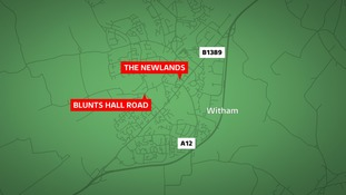 The guard was targeted as he left a Halifax branch in Witham.
