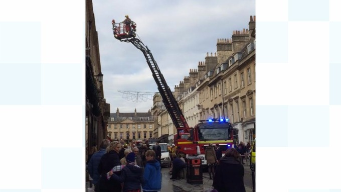 Fire above historic Jollys department store in Bath | West Country ...
