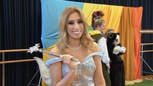 A sprinkle of fairy dust: Stacey Solomon gets ready for MK Panto