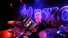 Saxon drummer Nigel Glockler wants to track down a Newcastle nurse