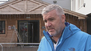 Gareth Murphy told UTV it was disturbing to see people in his store at night.
