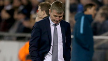 Dundalk's manager Stephen Kenny reacts after Zenit St Petersburg score an equaliser.