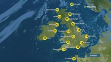 Weather: Generally fine with good spells of sunshine