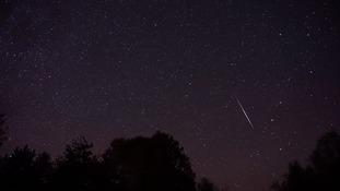 A shooting star from the Orionids Meteor Shower.