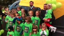 Simon Le Bon launching the Children's Air Ambulance Service in Coventry.