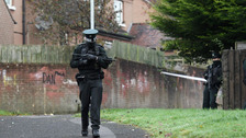 PSNI with gun