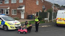 "Police pulled over a baby racer whose parents said she'd had a ""couple of bottles"" before hitting the road."