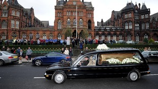 Jimmy Savile's funeral procession.