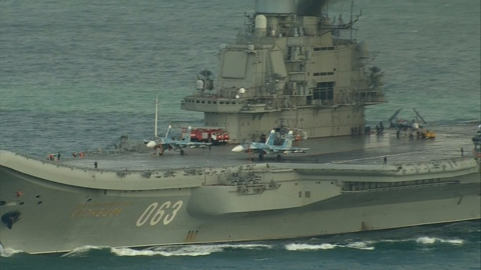 The Admiral Kuznetsov can carry more than 50 aircraft.