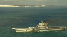 Navy follows Russian fleet as it passes through the Channel