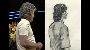 John Cooper on Bullseye, and an artist's impression of the 1989 murder suspect