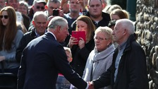 Prince of Wales visits Aberfan to pay his respects