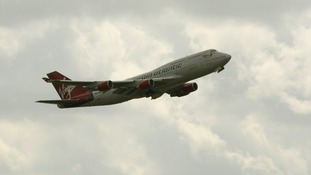 The first two Virgin Atlantic flights from London to New York have taken off