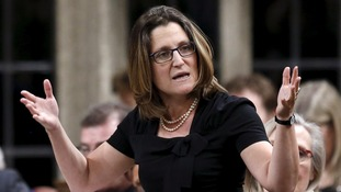 Canada's trade minister Chrystia Freeland said the talks had broken down