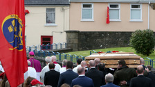 The coffin is carried from St Flannan's Church, Killaloe.