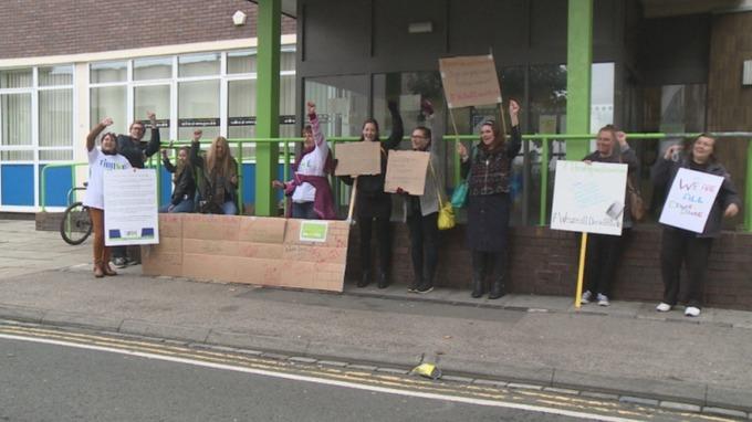 Protest in Stockton