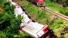 At least 55 dead after train derails in Cameroon