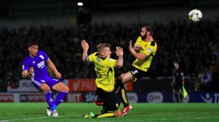 Birmingham City's Che Adams has a shot on target