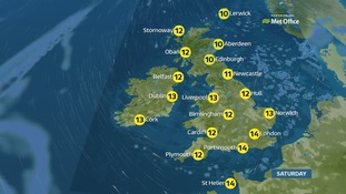 Mostly dry with sunny spells and some showers