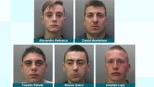 All five men were sentenced at Cambridge Crown Court