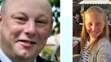 Andrew Broadhead and his daughter Kiera who died in the fire