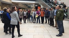 Meanwood Choir at Trinity Shopping centre in Leeds