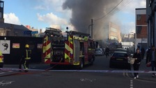 Six fire engines tackling fire in Hackney