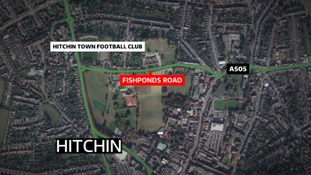 Fishponds Road in Hitchin has been cordoned off