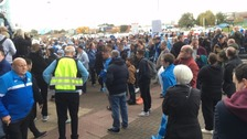 Coventry City fans protest ahead of kick off at Ricoh arena