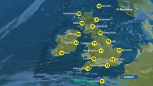 Sunny spells in the morning, mostly dry and bright