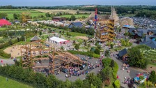 Nine in hospital after accident at amusement park