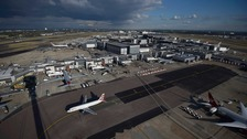 The British government will make  a decision on Tuesday whether to allow expansion at Heathrow (pictured) or Gatwick airports.