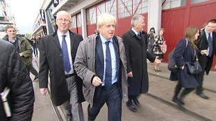 Boris Johnson in Bristol.